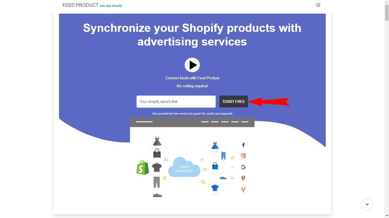 Enter your shopify store link