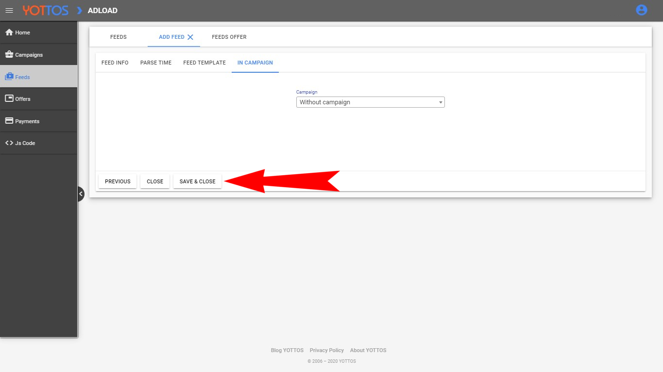 Log in to the Google Merchant Center
